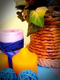Velas de Colourfull Imagen de archivo