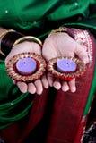 Velas de Diwali Fotos de archivo libres de regalías