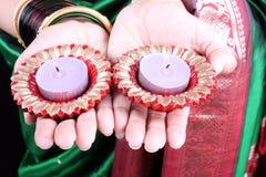 Velas de Diwali Fotografía de archivo libre de regalías