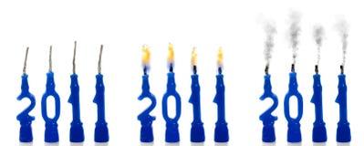 Velas de estatus 2011 imagen de archivo libre de regalías