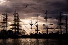 Velas de Gdynia de la operación Foto de archivo libre de regalías