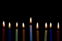 Velas de Hanukah Fotografía de archivo libre de regalías