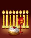 Velas de Hanukkah, stock de ilustración