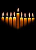 Velas de Hanukkah foto de archivo libre de regalías