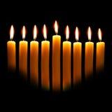 Velas de Hanukkah Imagen de archivo libre de regalías