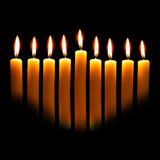 Velas de Hanukkah Imagem de Stock Royalty Free