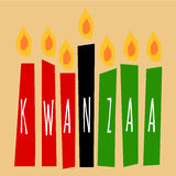 Velas de Kwanzaa libre illustration