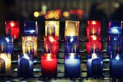 Velas de la basílica Imagenes de archivo