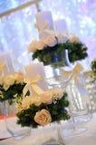 Velas de la boda Fotografía de archivo