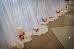 Velas de la boda Foto de archivo libre de regalías