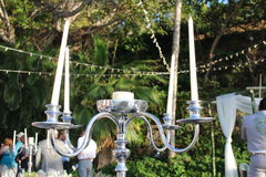 Velas de la boda fotos de archivo