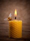 Velas de la cera de abejas Imagen de archivo libre de regalías