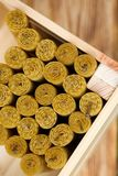 Velas de la cera fragante de la abeja del panal Imagen de archivo