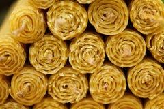 Velas de la cera fragante de la abeja del panal Imagenes de archivo