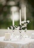 Velas de la ceremonia de boda Imágenes de archivo libres de regalías