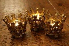 Velas de la corona Imágenes de archivo libres de regalías