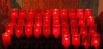 Velas de la iglesia Imagen de archivo libre de regalías