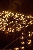 Velas de la iglesia en Katmandu Fotos de archivo