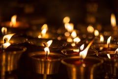 Velas de la iglesia en Katmandu Imagenes de archivo
