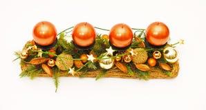 Velas de la naranja del advenimiento Fotografía de archivo libre de regalías