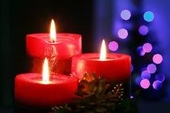 Velas de la Navidad Imágenes de archivo libres de regalías