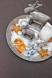 Velas de la Navidad del vector decoration Fotos de archivo