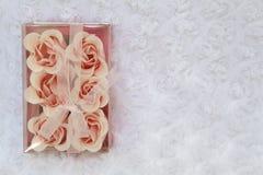 Velas de las rosas Imagen de archivo libre de regalías