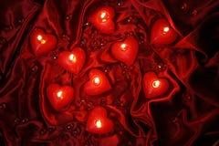 Velas de las tarjetas del día de San Valentín Imagen de archivo
