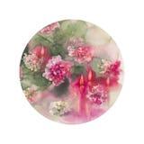 Velas de los crisantemos redondas stock de ilustración