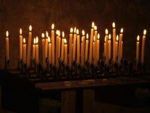 Velas de luces Foto de archivo libre de regalías