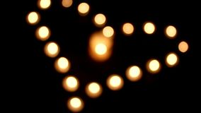 Velas de luces - corazón del amor almacen de video