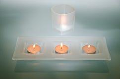 Velas de luz Imagen de archivo libre de regalías