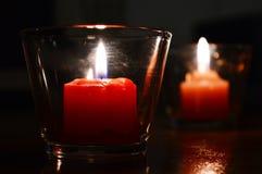 Velas de luz Fotografía de archivo libre de regalías