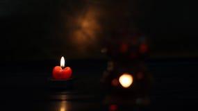 Velas de luz Foto de archivo libre de regalías