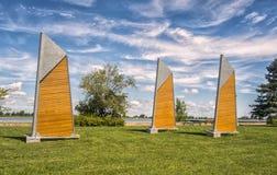 Velas de madeira Fotografia de Stock Royalty Free