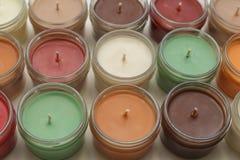 Velas de muchos colores Fotos de archivo libres de regalías