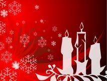 Velas de Navidad Imágenes de archivo libres de regalías