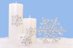 Velas de Navidad Fotografía de archivo libre de regalías