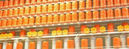 Velas decoradas Imagem de Stock Royalty Free