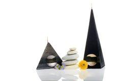 Velas decorativas para dentro Imagen de archivo libre de regalías