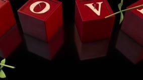 velas del amor 3D y rosas que caen en fondo negro libre illustration