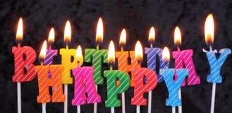Velas del cumpleaños imagen de archivo libre de regalías