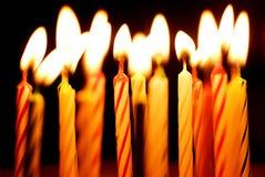 Velas del cumpleaños Imagen de archivo