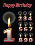 Velas del cumpleaños Imagenes de archivo