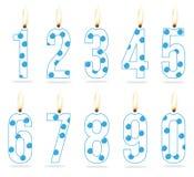Velas del cumpleaños del muchacho numérico stock de ilustración