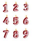 Velas del cumpleaños del número Fotografía de archivo