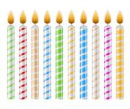 Velas del cumpleaños Foto de archivo