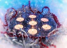 Velas del día de fiesta de la Navidad, vela, vintage Foto de archivo libre de regalías