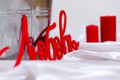 Velas del día de tarjeta del día de San Valentín Fotos de archivo libres de regalías