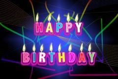 Velas del feliz cumpleaños stock de ilustración